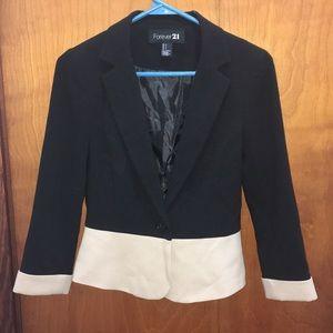 Black and cream blazer